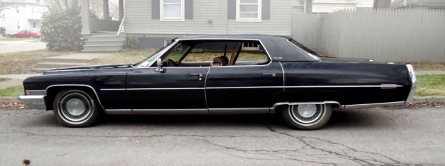 Cadillac Deville Black Sedan Classic Cool Old School