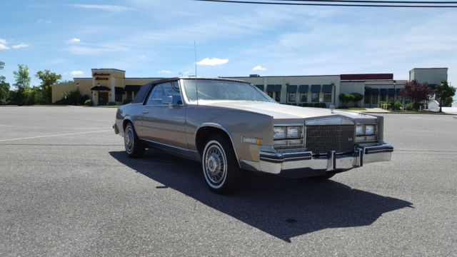 Cadillac Eldorado One Owner Two Door Rag Top Landau Roof Sexy Leather V Classic on 1985 Cadillac Engine Parts