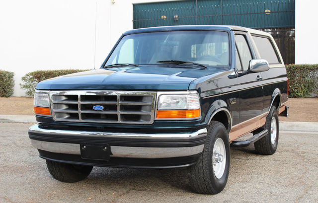 california original 1994 ford bronco eddie bauer 4x4 one owner 100 rust free classic ford. Black Bedroom Furniture Sets. Home Design Ideas