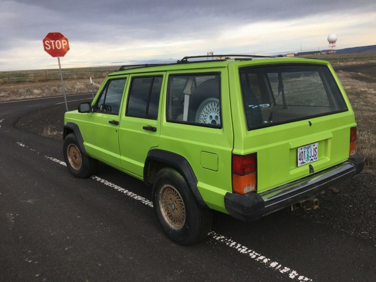 Candy Pearl Lime Green 1993 Jeep Cherokee Sport