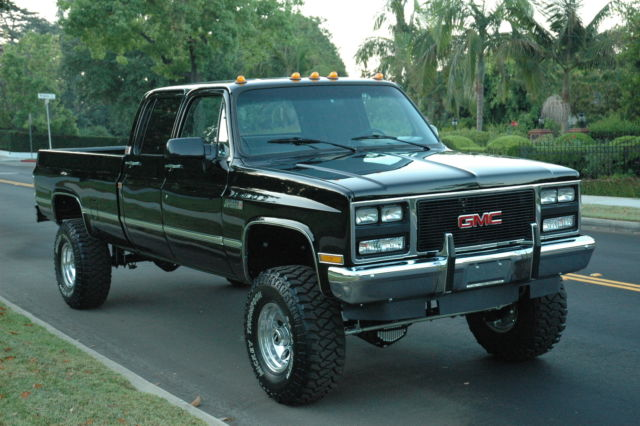 chevy crew cab 1 ton 4x4 pick up truck 3500 classic gmc sierra 3500 1988 for sale. Black Bedroom Furniture Sets. Home Design Ideas