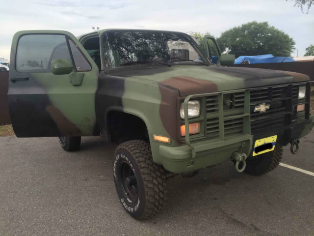 chevy k5 blazer cucv 1984 6 2 diesel classic chevrolet blazer 1984 for sale. Black Bedroom Furniture Sets. Home Design Ideas