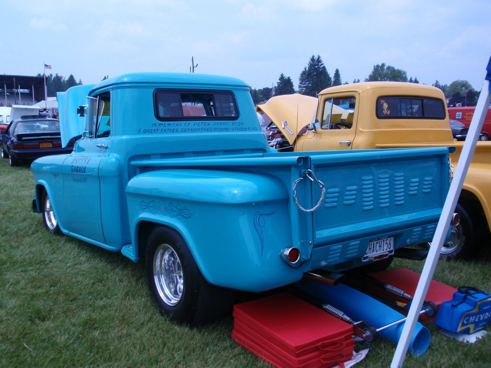 chevy pick up truck 1956 supercharged pro street classic. Black Bedroom Furniture Sets. Home Design Ideas
