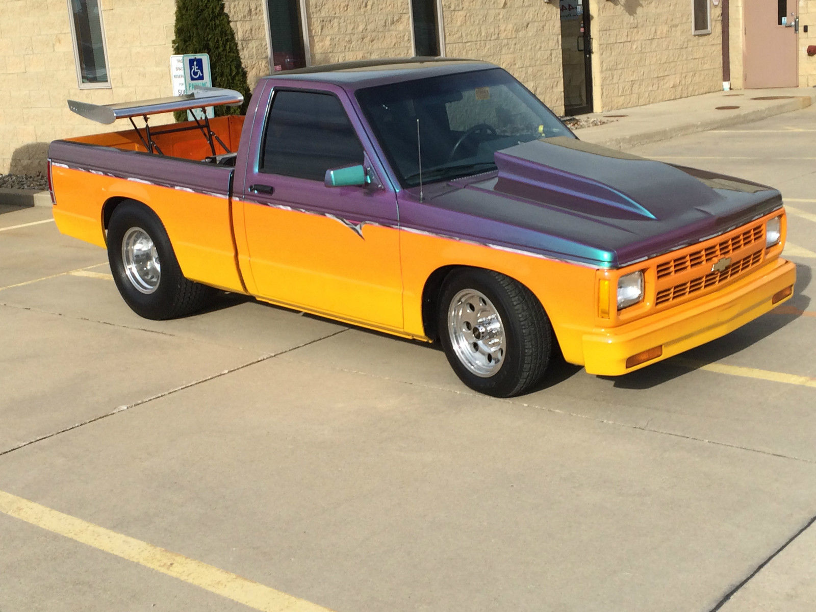 Chevy S10 Pick-up Truck - Pro Street - Fantastic Paint! Narrowed