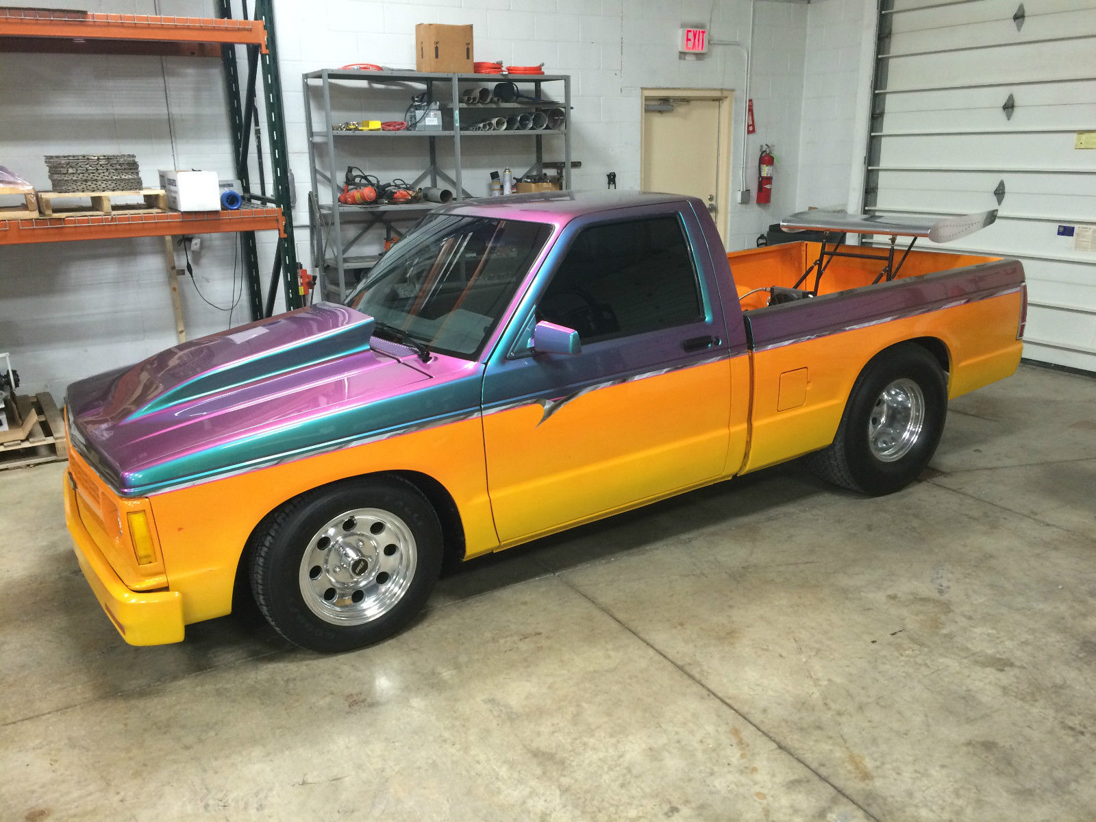chevy s10 pick up truck pro street fantastic paint. Black Bedroom Furniture Sets. Home Design Ideas