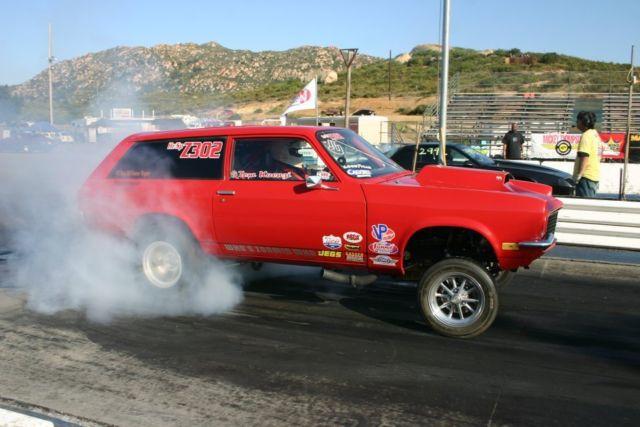 Chevy Vega Gasser Wagon Race Drag Race Vintage Ratrod