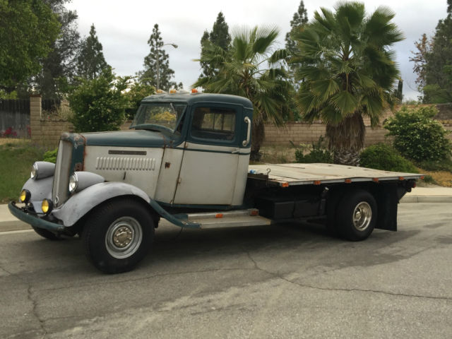 Classic 1935 GMC Dually Flat Bed Pickup sitting on a Hot ...