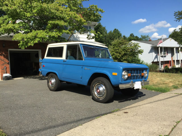 Classic 1976 Bronco Restored In Original Colors Blue With