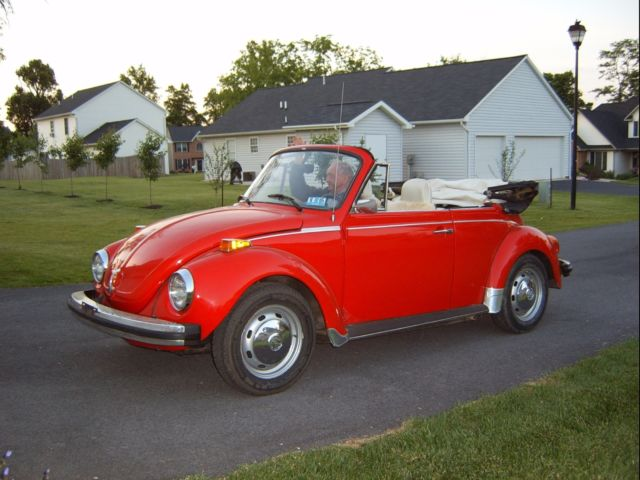 classic 74 vw super beetle convertable classic volkswagen beetle classic 1975 for sale. Black Bedroom Furniture Sets. Home Design Ideas