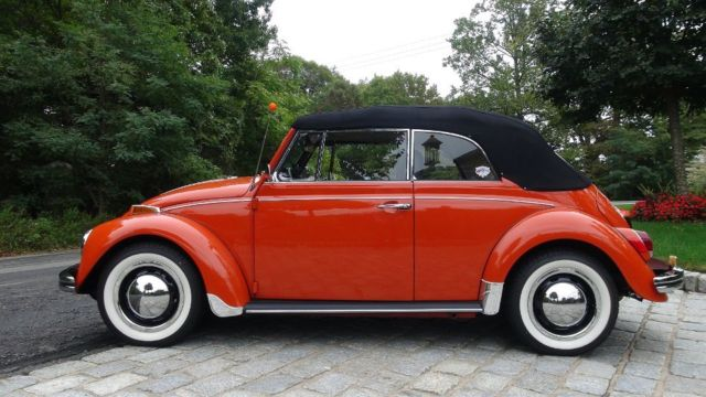 classic vw bug  clementine orange beetle convertible sp numbers match classic