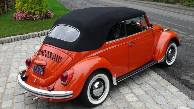Classic VW BuG 1970 Clementine Orange Beetle Convertible ...