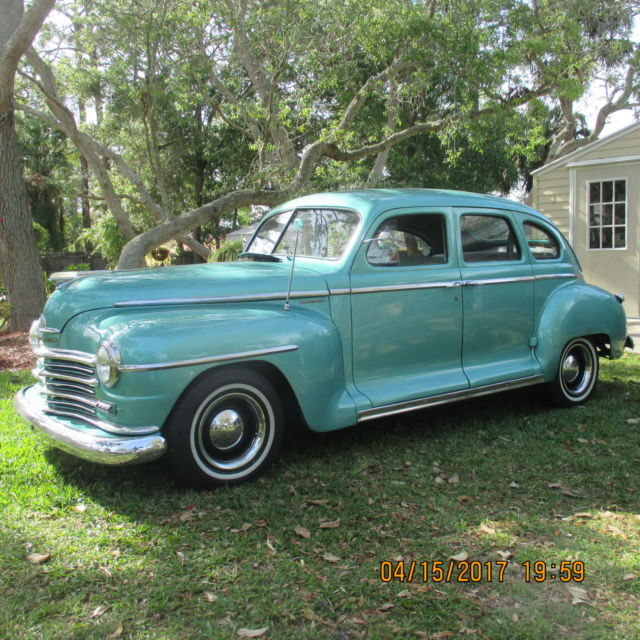 Collector car street rod v8 auto classic plymouth for 1947 plymouth 4 door sedan