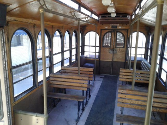 Cool Trolley Bus Used In Movies With Balcony And