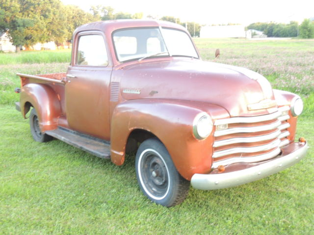Copper 1953 chevrolet 3100 5 window orig driver or shop for 1953 chevy truck for sale 5 window