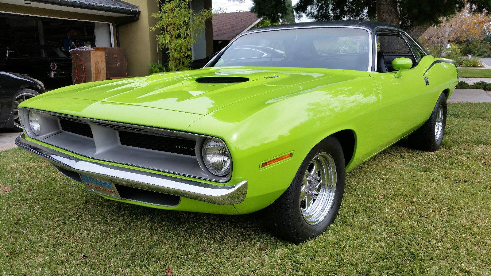 Cuda Green 1970 Dodge Barracuda Restored, 440 6 pack with MSD
