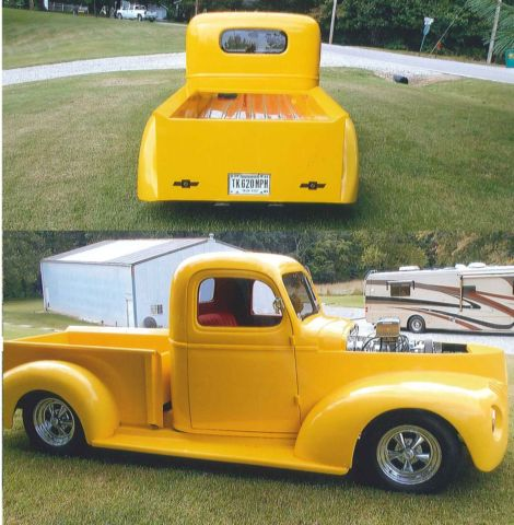custom 1941 chevy chevrolet yellow pickup truck ready to show and drive classic chevrolet. Black Bedroom Furniture Sets. Home Design Ideas