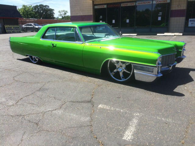 Custom Cadillac Coupe Deville Candy Lime Gold