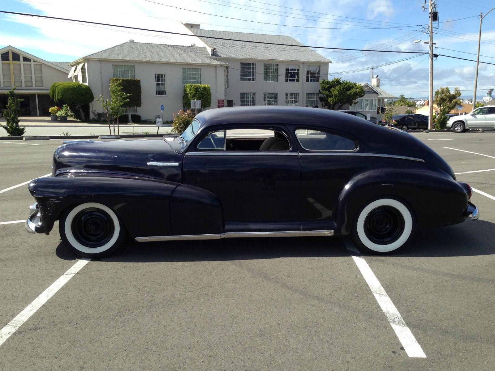 Custom 2 door 1947 chevy fleetline aero sedan chopped for 1947 dodge 2 door sedan