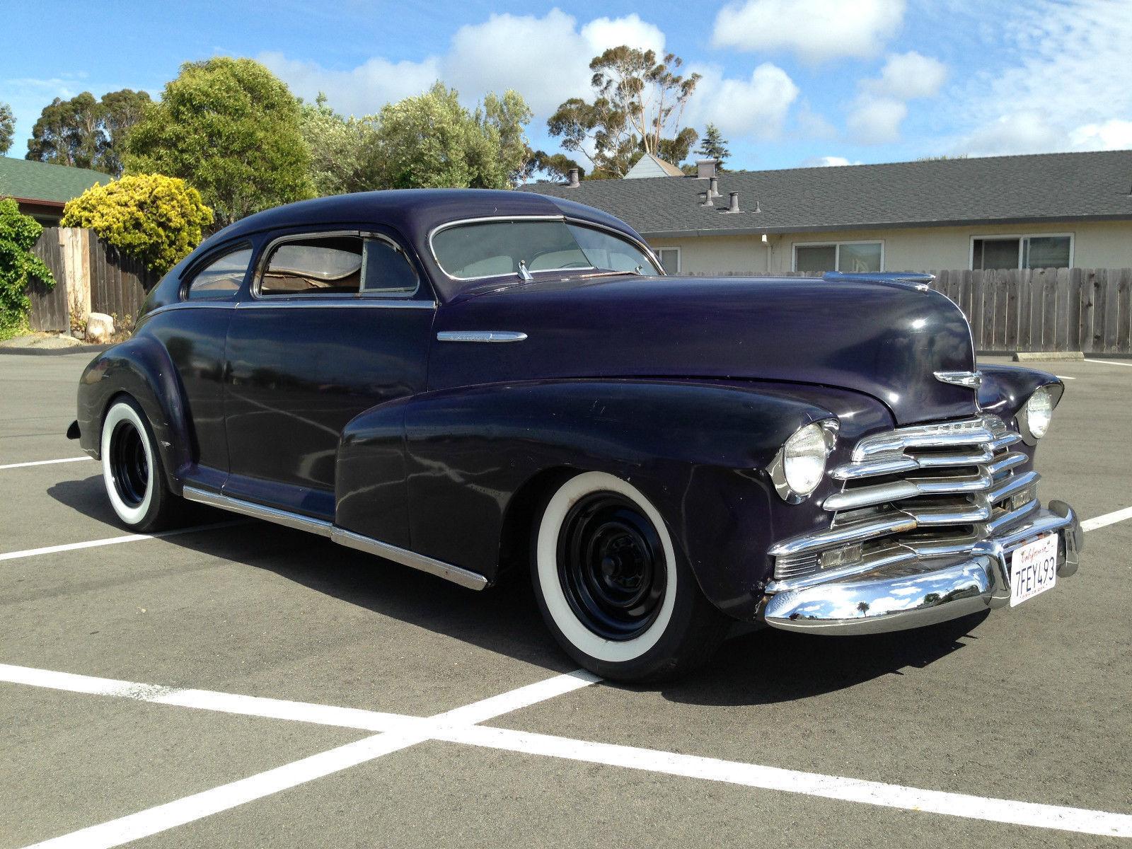Custom 2 door 1947 chevy fleetline aero sedan chopped for 1947 chevy fleetline 4 door