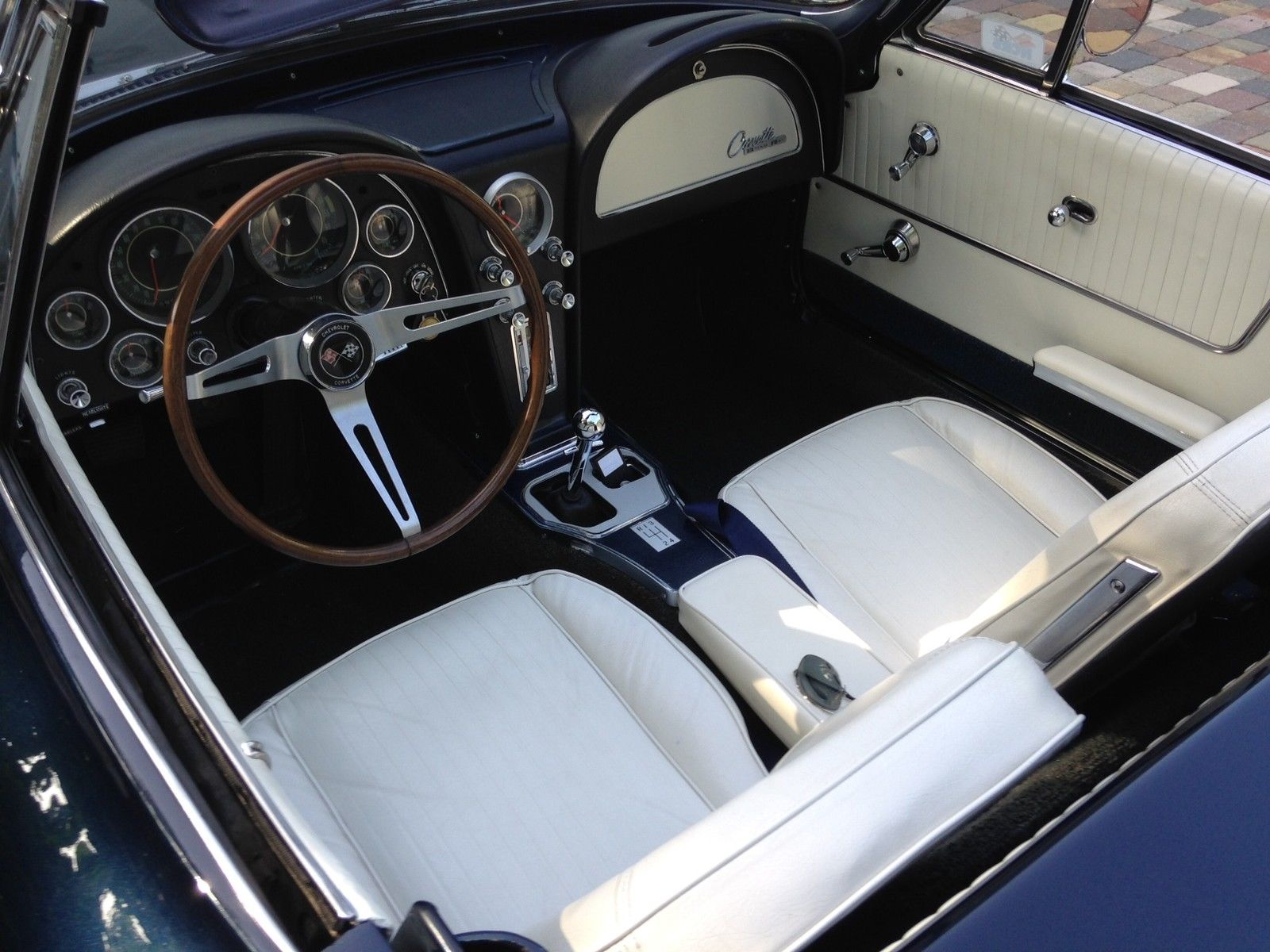 daytona blue 2 top conv with rare white blue interior ncrs tf very nice classic. Black Bedroom Furniture Sets. Home Design Ideas