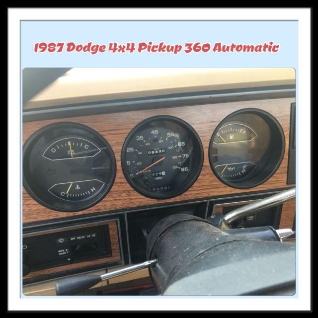 DODGE LE W-150 FULLSIZE 4X4 PICKUP TRUCK MOPAR 360 ENGINE