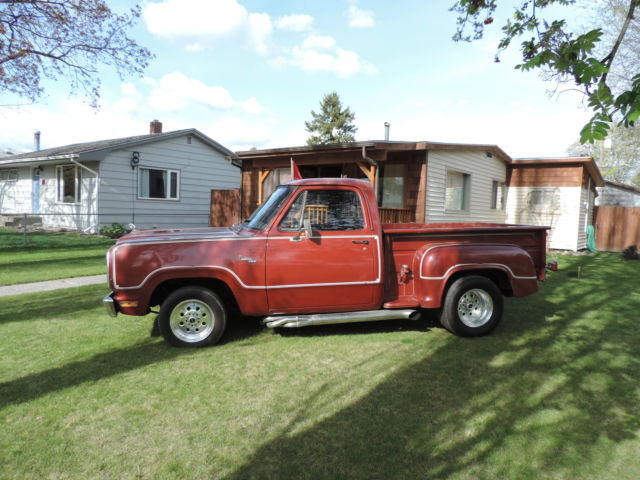 Used Cars Kalispell >> dodge step side short box with warlock VIN TRUE SPIRIT vary rare - Classic Dodge Other 1979 for sale