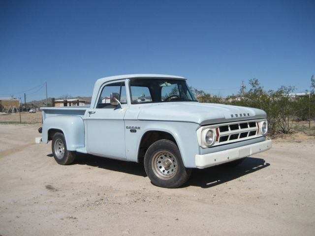 Dodge Stepside Utiline Short Bed D100 Classic Dodge
