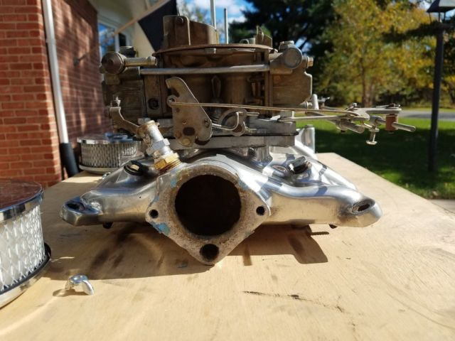 Dual quad intake manifold & carburators Ford Y block