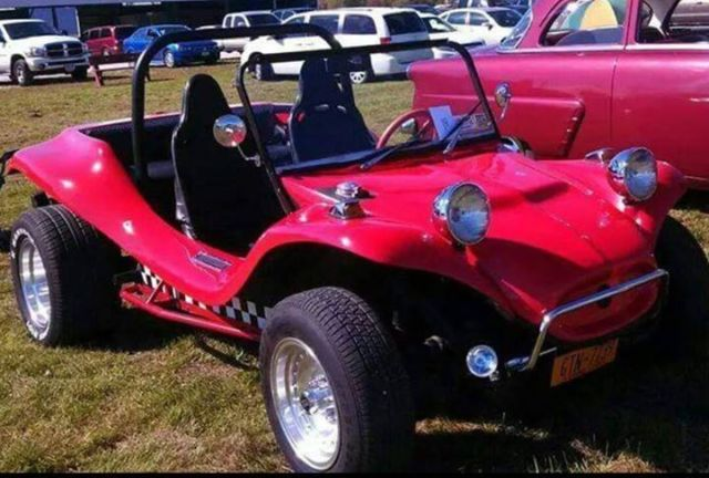 Dune Buggy Street Legal Red with Racing Strip on bottom half Excellent Condition - Classic ...