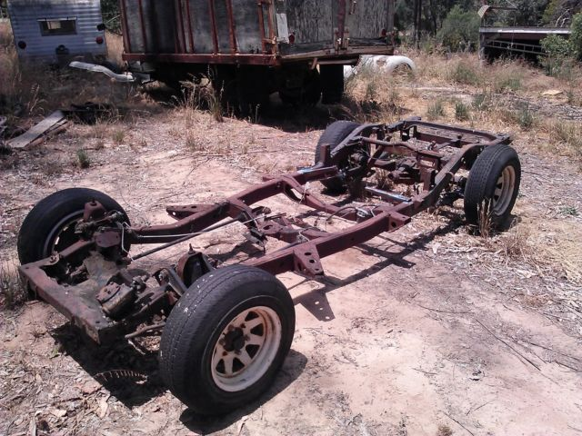 Early 1970 S Chevy Luv Truck Rolling Chassis For Chassis