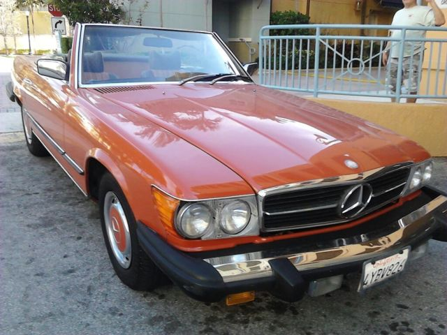 English red 1977 mercedes benz 450 sl convertible w for Custom mercedes benz for sale