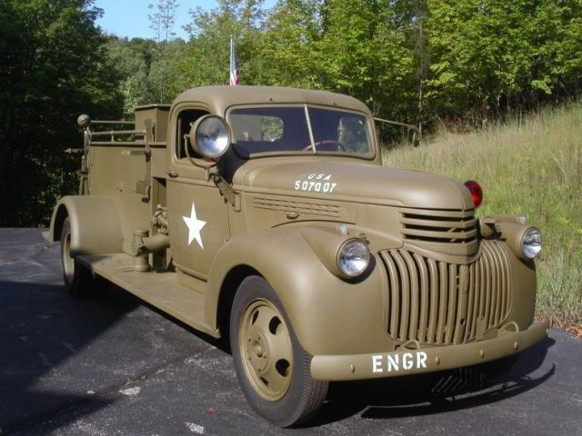 Used Cars Buffalo >> Extremely rare 1942 Chevy Buffalo Military Fire Truck ...