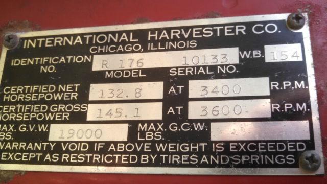 Farm Fresh 1954 International Harvester R 176 Fire Truck