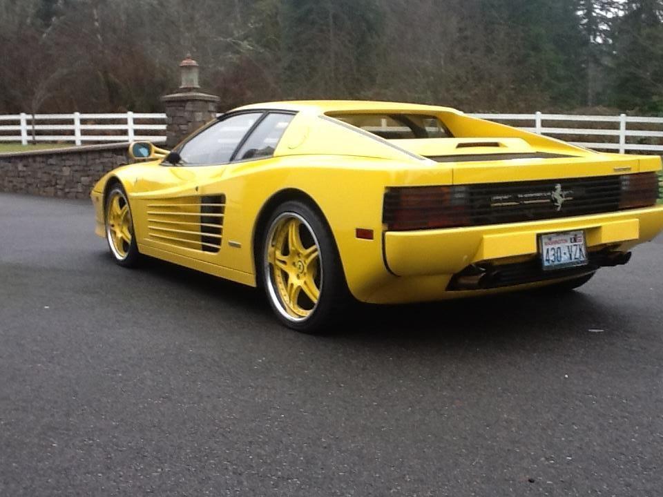 Ferrari Testarossa 19885 Rare Yellow Exterior With Black Interior