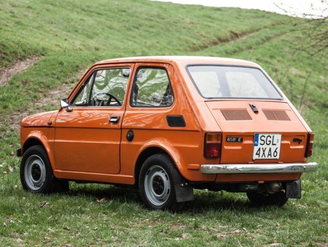 Fiat 126p Polski Fiat 1985 Orange Maluch Classic
