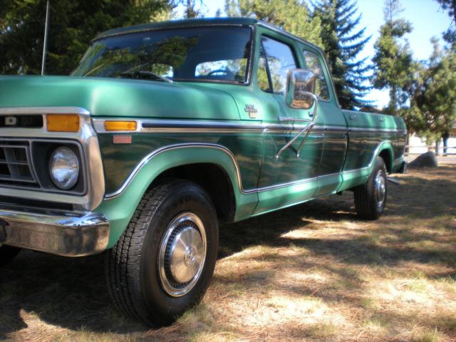 Ford 1977 F250 Ranger Xlt Super Cab Camper Special