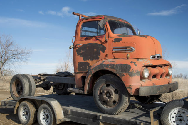 Ford Cab Over Flathead Patina Farm Truck Hot Rod Flatbed Car Hauler