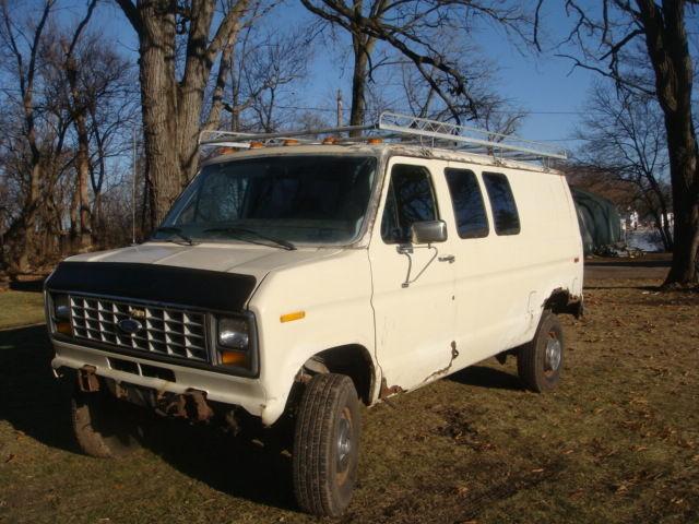 ford e350 4wd van one ton quadravan four wheel drive 460 bbf auto trans 1986 4x4 classic ford. Black Bedroom Furniture Sets. Home Design Ideas