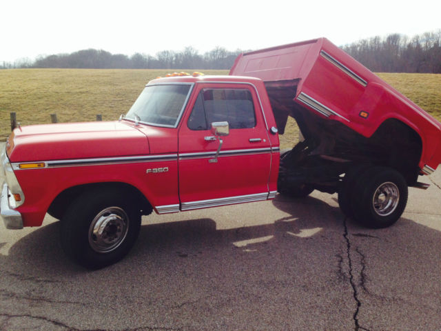 Ford F 350 1 Ton Dually Dump Bed Pick Up Truck 1975