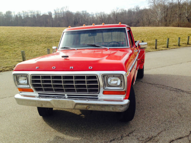 Ford f-350 1 ton dually dump bed pick up truck 1975 ...