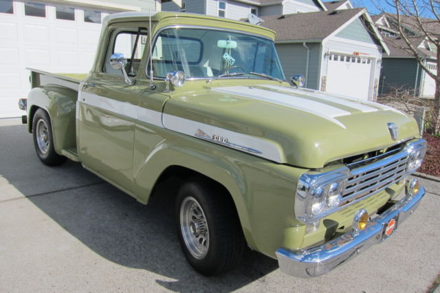 FORD F100 STEPSIDE PICKUP 351C C6 CLEVELAND WOOD BED HOTROD RATROD 58 59 60 COOL - Classic Ford ...