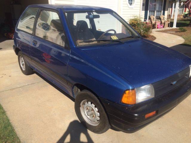 Ford Festiva L Plus Door L Blue Speed No Reserve
