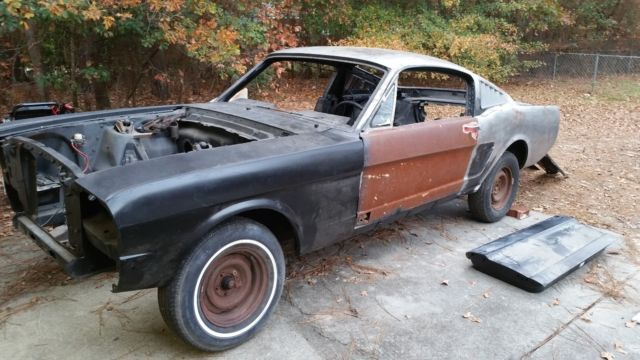 ford mustang fastback 1965 project no rust classic ford mustang 1965 for sale. Black Bedroom Furniture Sets. Home Design Ideas