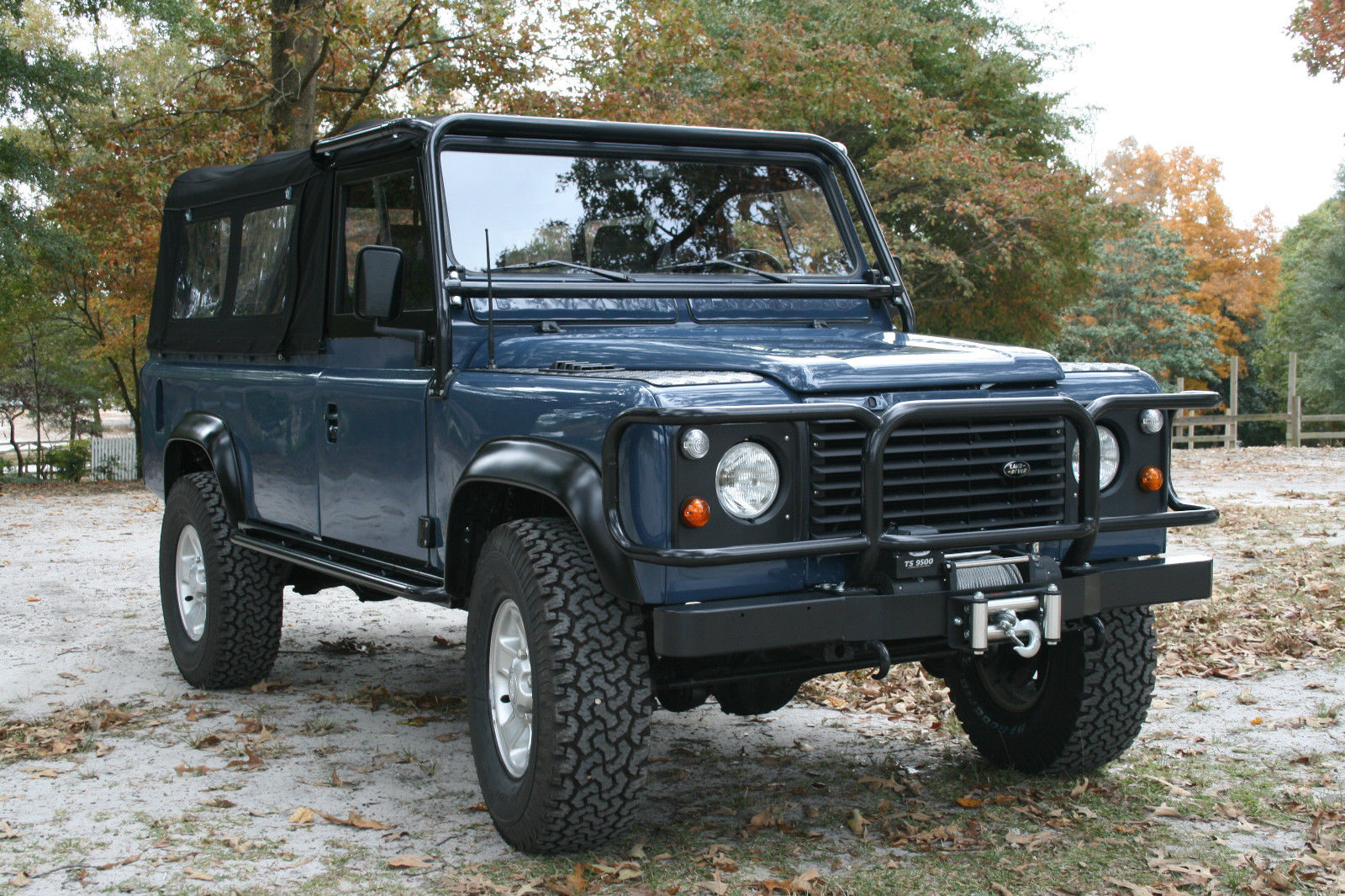 frame up restored defender 110 convertible soft top classic land rover defender 1983 for sale. Black Bedroom Furniture Sets. Home Design Ideas