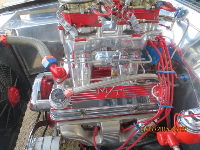 Full Custom Street Rod Nitrous Injected Tunnel Ram Roller Motor Th400 Roll Bar Classic