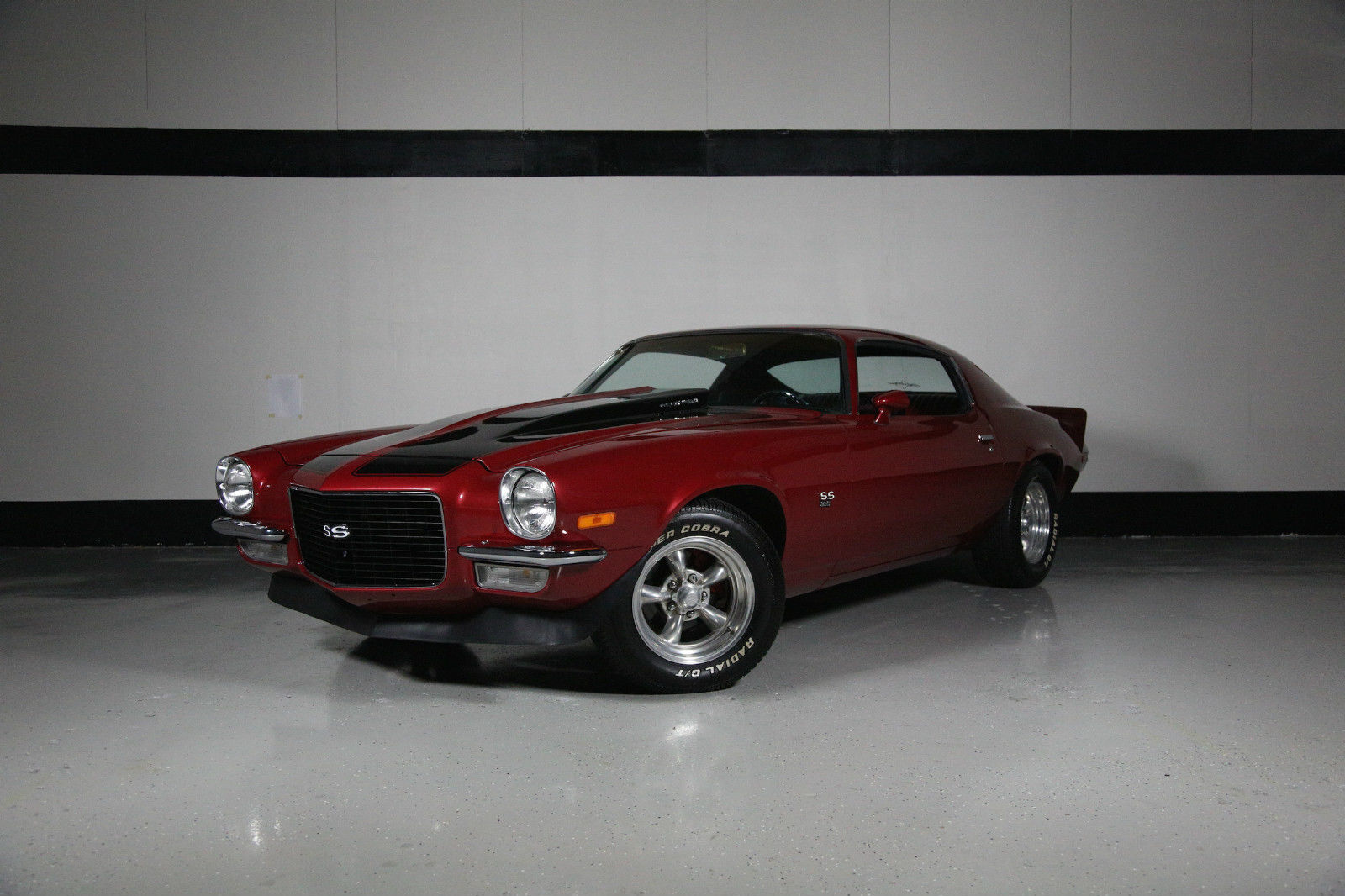 fully restored cranberry red 1970 chevrolet camaro ss. Black Bedroom Furniture Sets. Home Design Ideas
