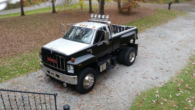 gmc c7000 custom truck big lifted cat diesel and allison