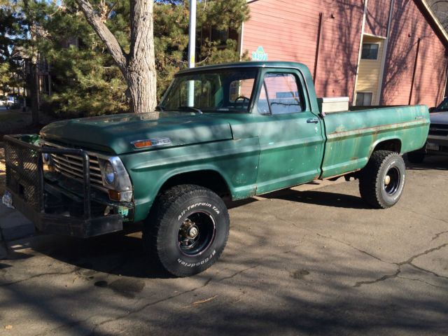 Green Ford F 250 4x4 High Boy Zombie Smasher Classic Ford F 250 1969 For Sale