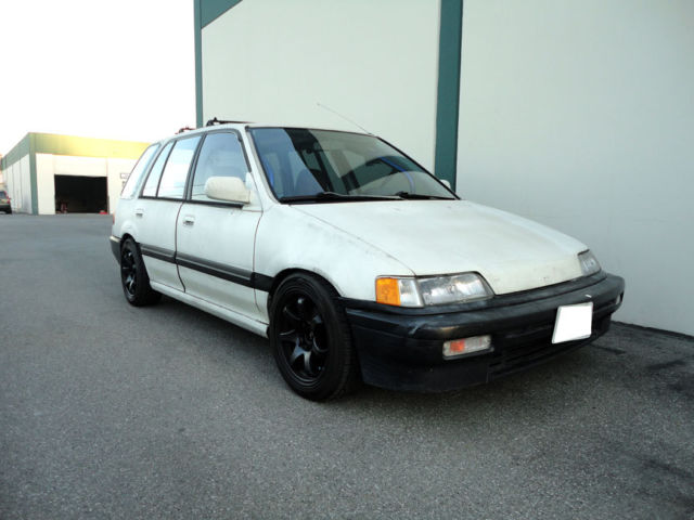 honda 91 39 civic wagon w b18 swap wagovan classic honda. Black Bedroom Furniture Sets. Home Design Ideas