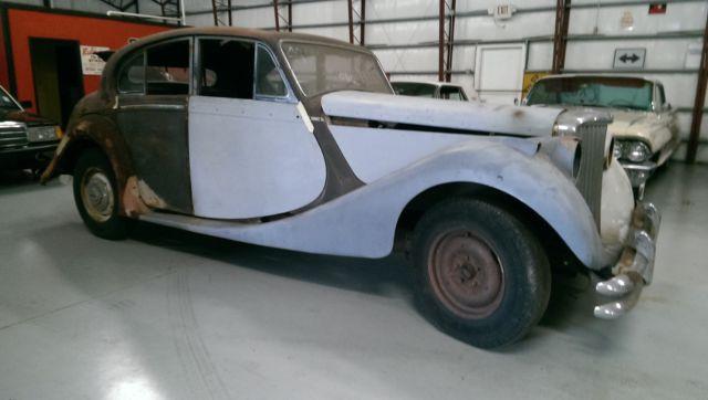 HUGE BARN SALE 50 CARS RARE 1949 JAGUAR V SALOON SEDAN FIND PROJECT 51